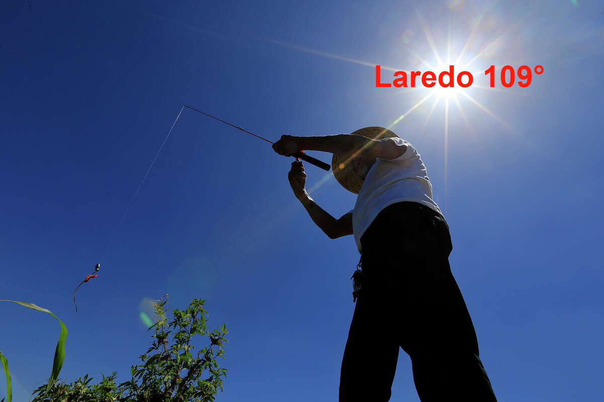 According to the National Weather Service Laredo saw a high of 109° this weekend.