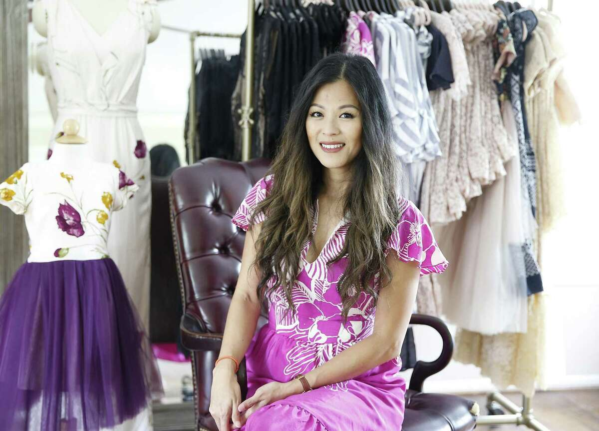 Theresa Pham, fashion designer. She created a collection of
