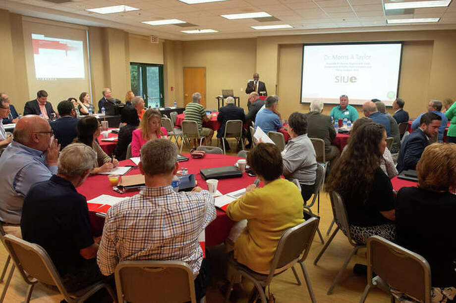 SIUE and Madison County Community and Economic Development (MCCD) co-hosted the Metro East Economic Development Seminar for elected officials on Friday on SIUE's campus. Photo: Courtesy Of Megan Wieser At SIUE