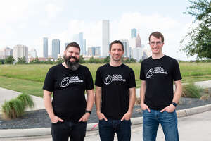 """From left to right, owners James """"Huggy Bear"""" Wolfe, Michael Steeves and Todd Donewar, of Local Group Brewing, at the location of their new brewpub, slated to open later this year."""