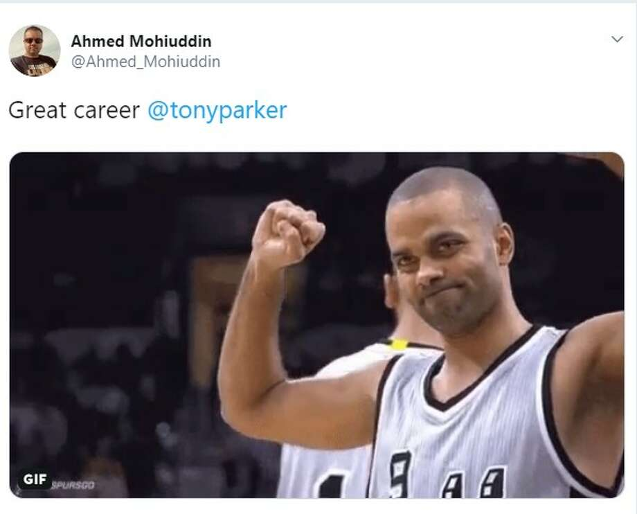 San Antonio Spurs fans share their emotions on Twitter to the news of Tony Parker's retirement. Photo: Twitter Screenshot