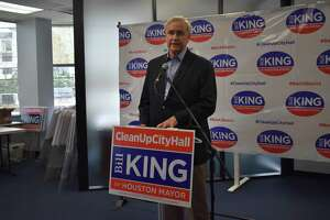 Houston mayoral candidate Bill King on April 16, 2019.