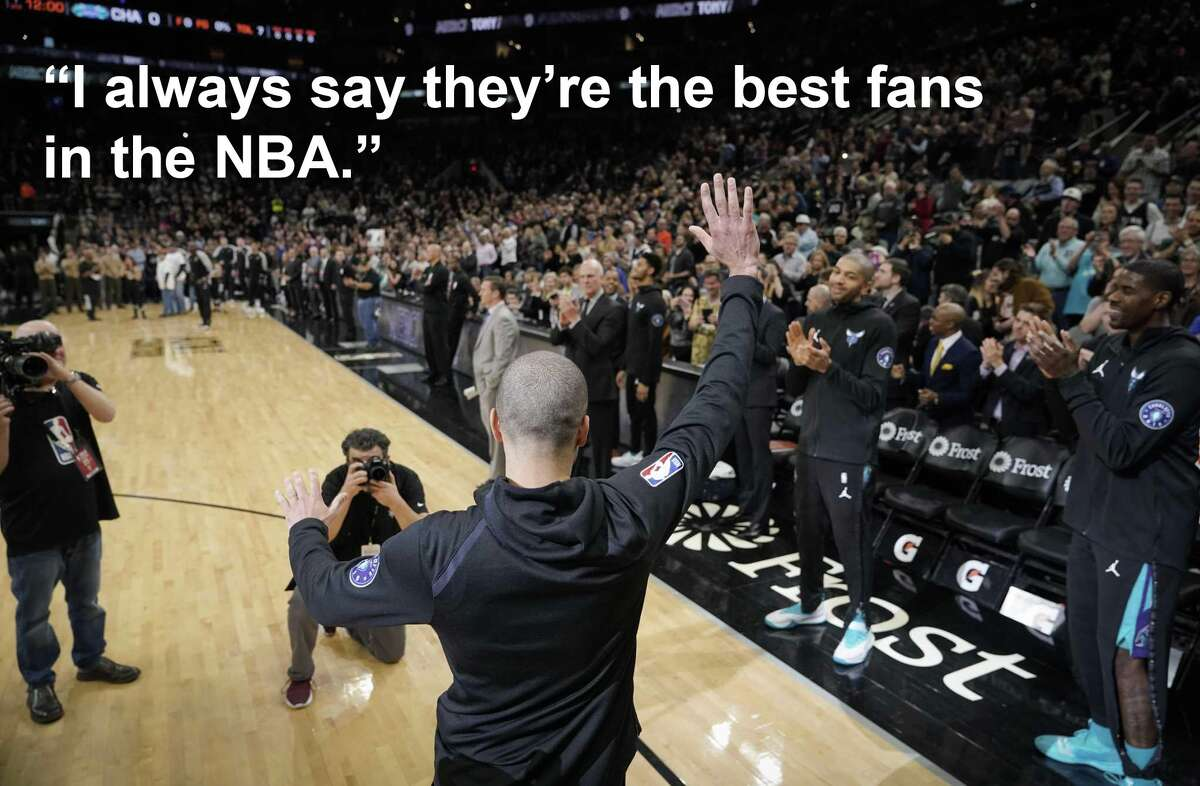 Tony Parker on his San Antonio fans, continued: