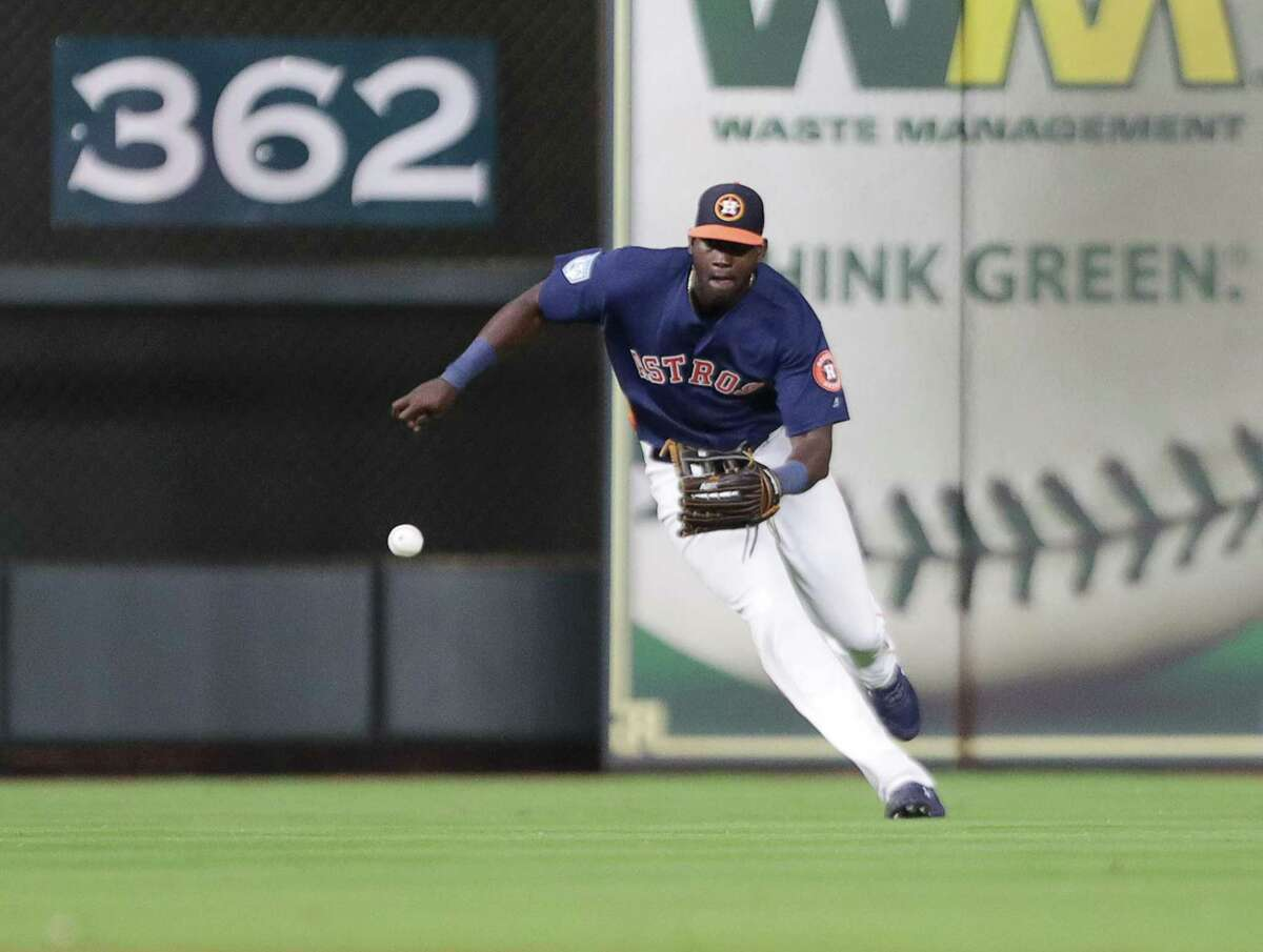 Yordan Alvarez was back in left field Wednesday for the first time since Game 5 of the 2019 World Series.