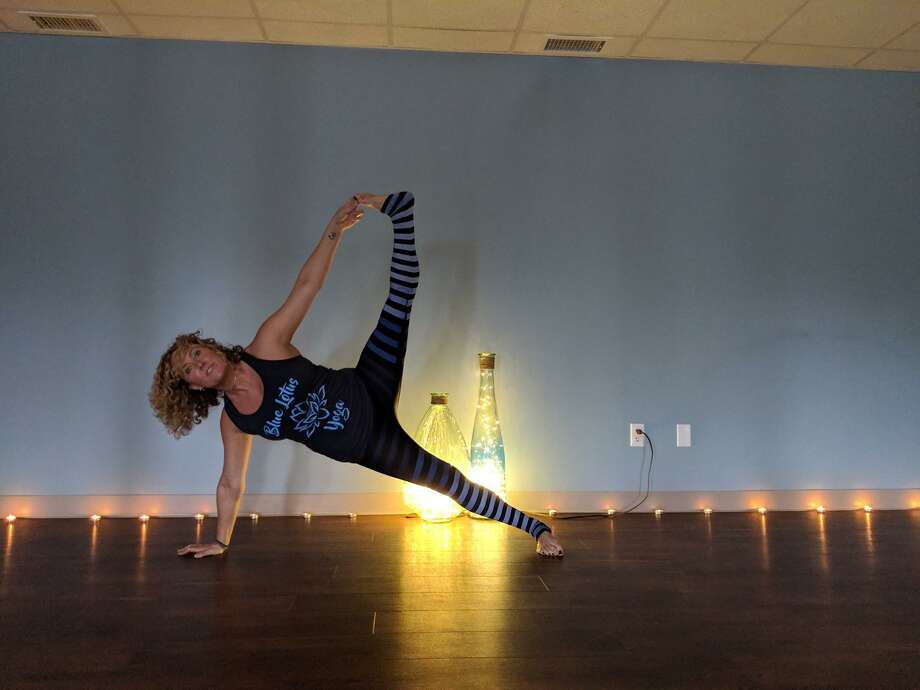 Elaina Weiser, owner of Blue Lotus Yogain Monroe, has organized a the inaugural Blue Lotus Peace Project Free Community Yoga Class, which will take place from 9 to 10 a.m. June 22, 2019,on the Monroe Green at Route 111. Photo: Contributed / Courtesy Of The Blue Lotus Yoga Facebook Page