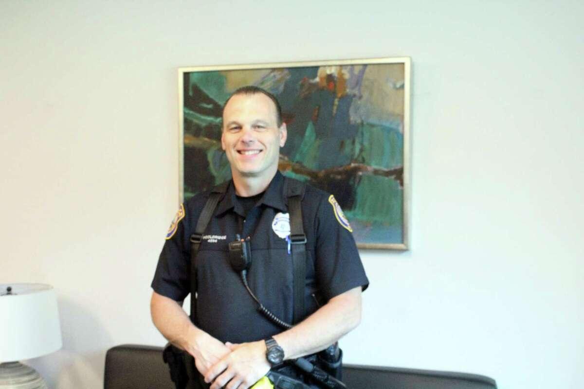 Staples police officer Ed Wooldridge. Taken June 7, 2019 at Staples High School.