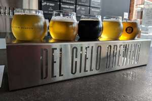 A flight of beer from Del Cielo's Martinez, Calif. taproom.