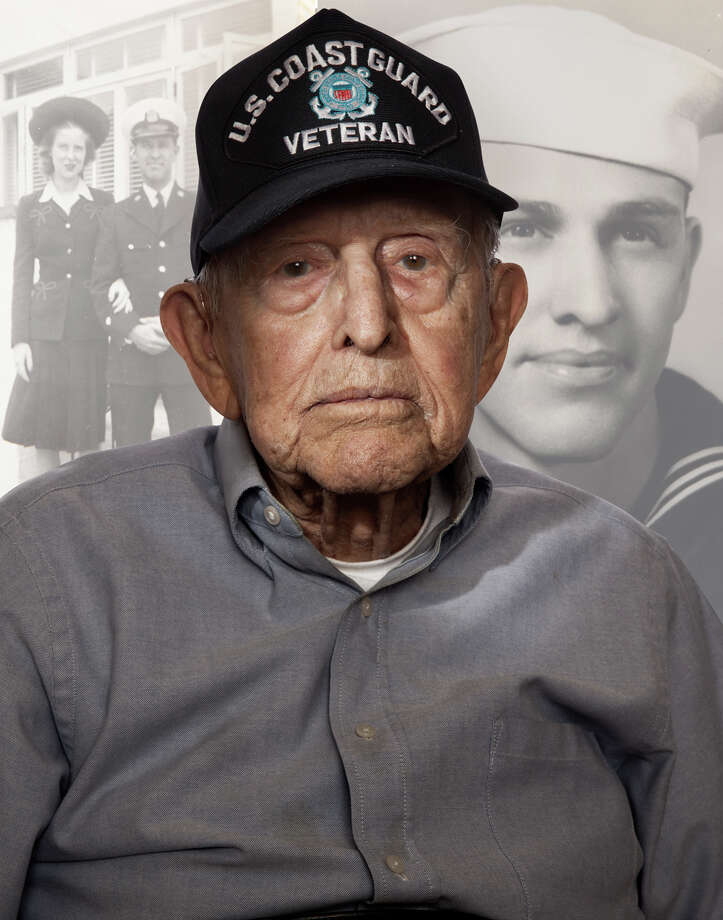 Walter Peine, 104, is a resident Belmont Village Hunters Creek. In WWII Peine, served as assistant captain, US Coast Guard (1940-1945) checking merchant ships entering the inside passage of Alaska. Photo: Photo Courtesy Of Belmont Village
