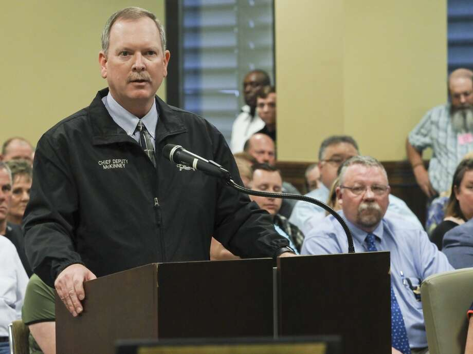 Sheriff Deputy Chief Rory McKinney speaks 06/10/19 at Commissioners Court. Tim Fischer/Reporter-Telegram Photo: Tim Fischer/Midland Reporter-Telegram