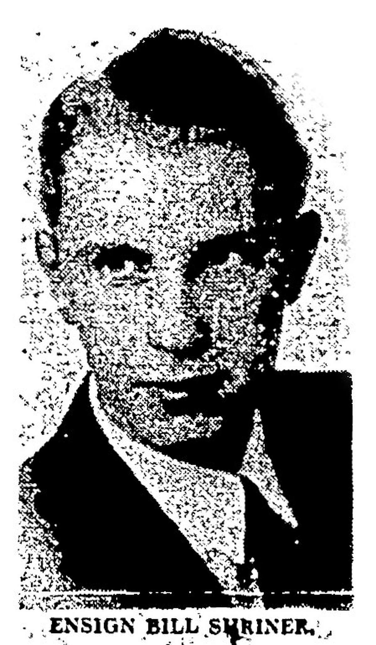 Ens. William Shriner (As it appeared in the Houston Chronicle Vol. 43 No. 239 Houston, Texas, Thursday June 8, 1944)