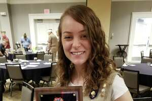 Grace Collins, an Ambassador Girl Scout from Brookfield Troop 50897, was named state Veteran of Foreign War's Girl Scout of the Year.