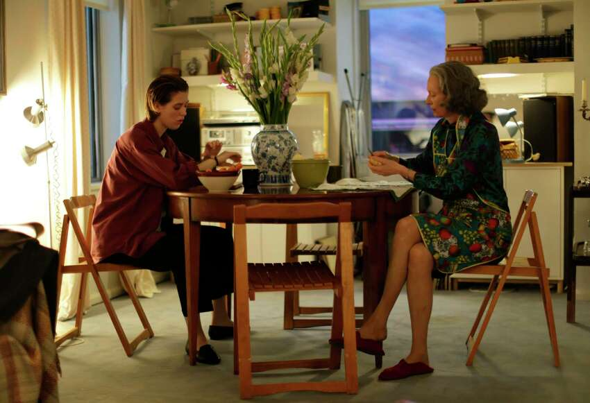 This image released by A24 shows Honor Swinton Byrne, left, and Tilda Swinton in a scene from