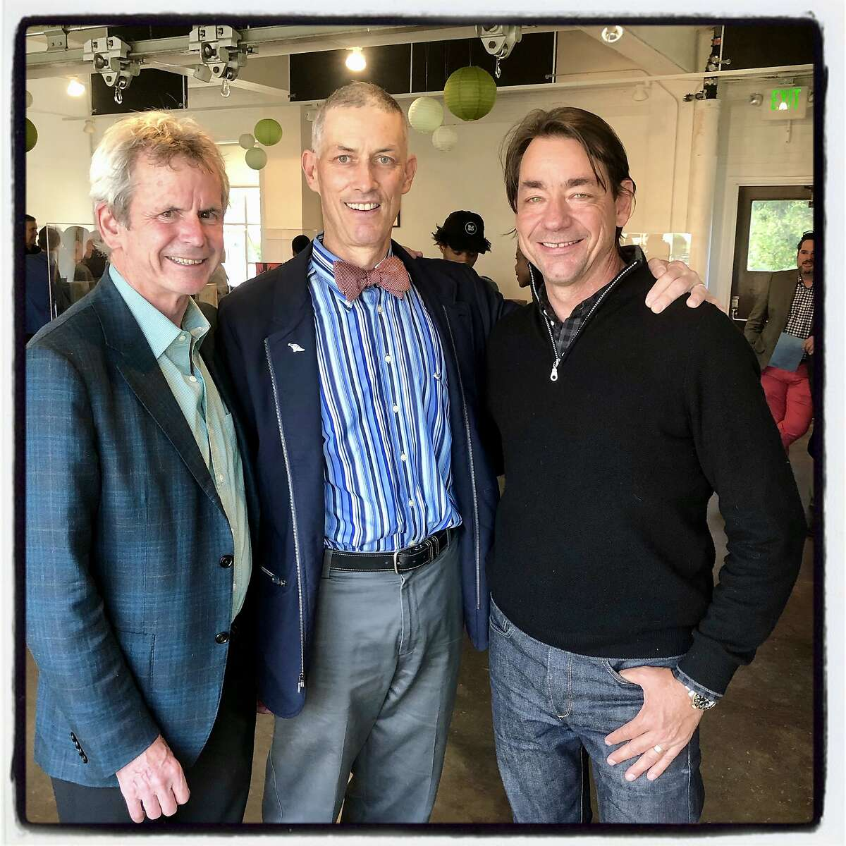 Arion Board Chairman Kevin King (center) with fellow trustees Philip Bowles (left) and Paul Wattis. May 23, 2019.