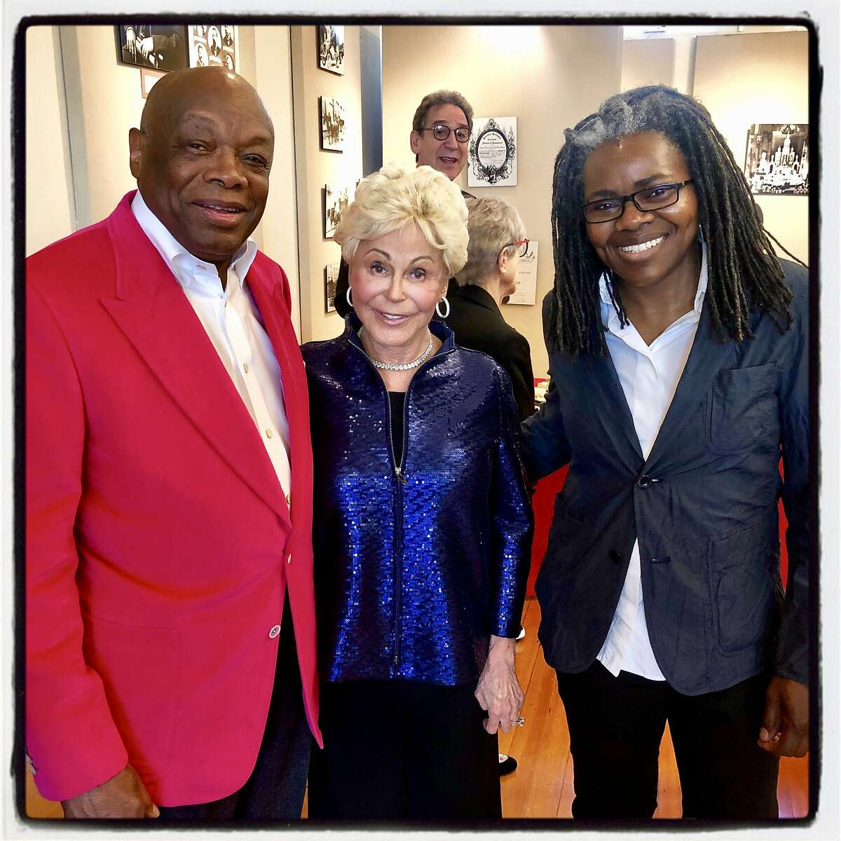 Former Mayor Willie Brown (left) with BBB Producer Jo Schuman Silver and scholarship judge Tracy Chapman. June 3, 2019.