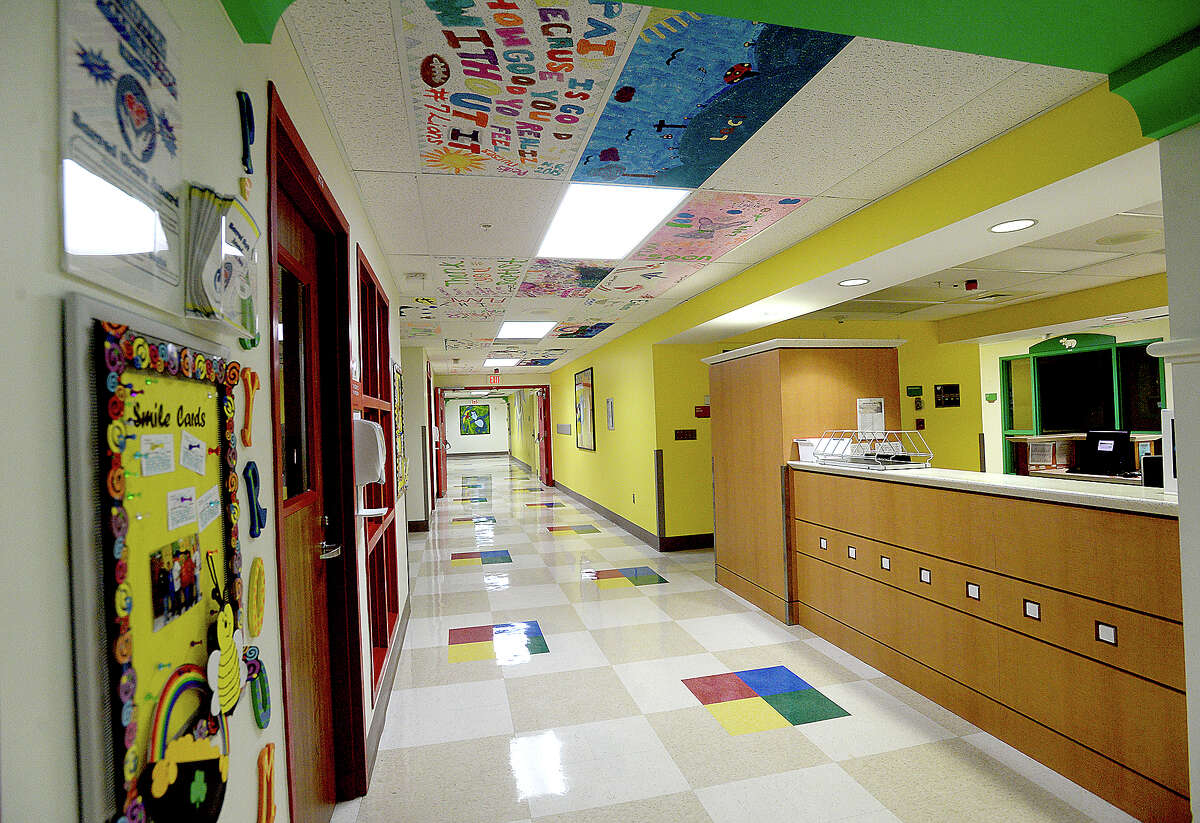 Colorful ceiling tiles with artwork done by young patients in Baptist Hospital's pediatric unit fill the walkways throughout the facility. The pieces represent the thoughts and hopes of the children whose care requires a longer hospital stay. But they also serve a therapeutic role, making their stay more child-friendly and less scary. The concept, which staff created in 2007, helps Baptist meet its primary goal -