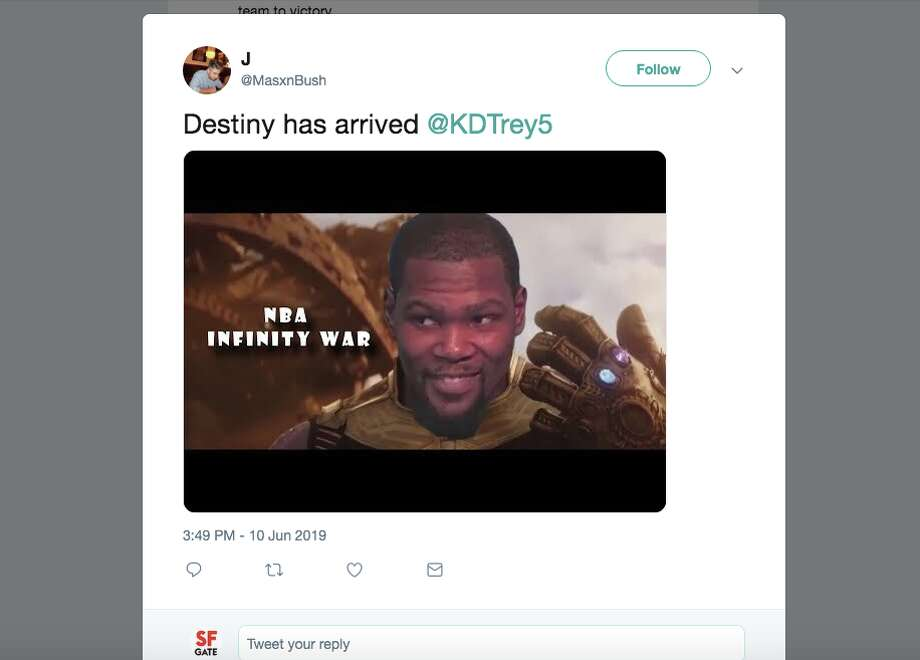 Basketball fans reacted with a mix of fear, excitement and indifference at the news that Golden State Warriors forward Kevin Durant will play in Game 5 of the NBA Finals against the Toronto Raptors. Photo: Screenshot Via Twitter