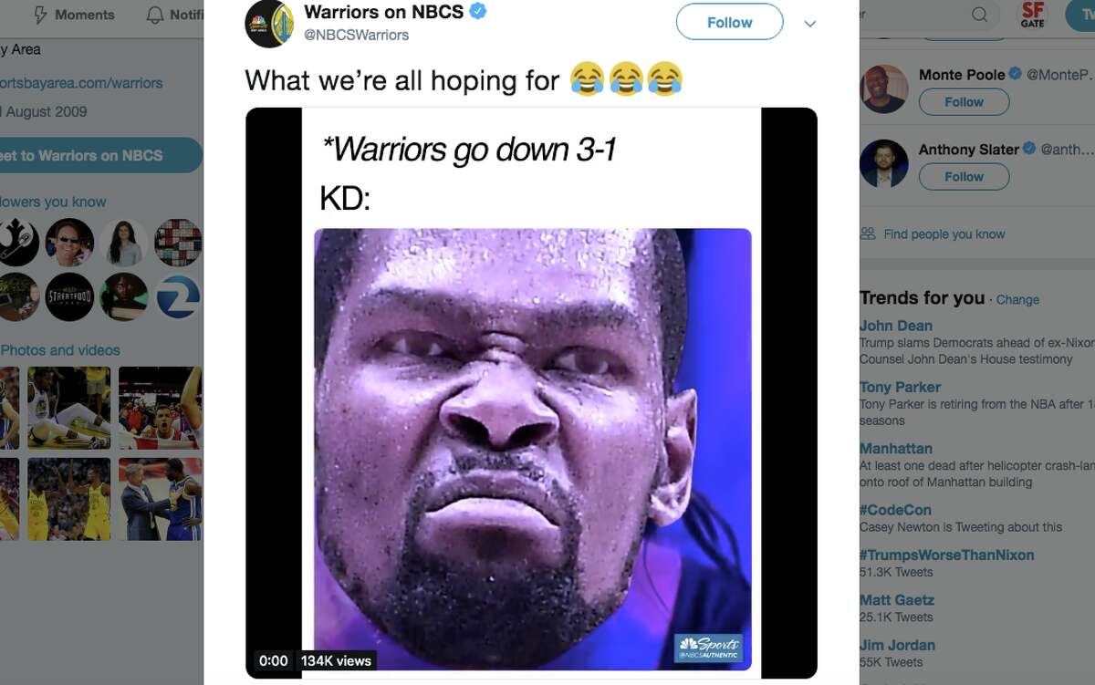 Basketball fans reacted with a mix of fear, excitement and indifference at the news that Golden State Warriors forward Kevin Durant will play in Game 5 of the NBA Finals against the Toronto Raptors.