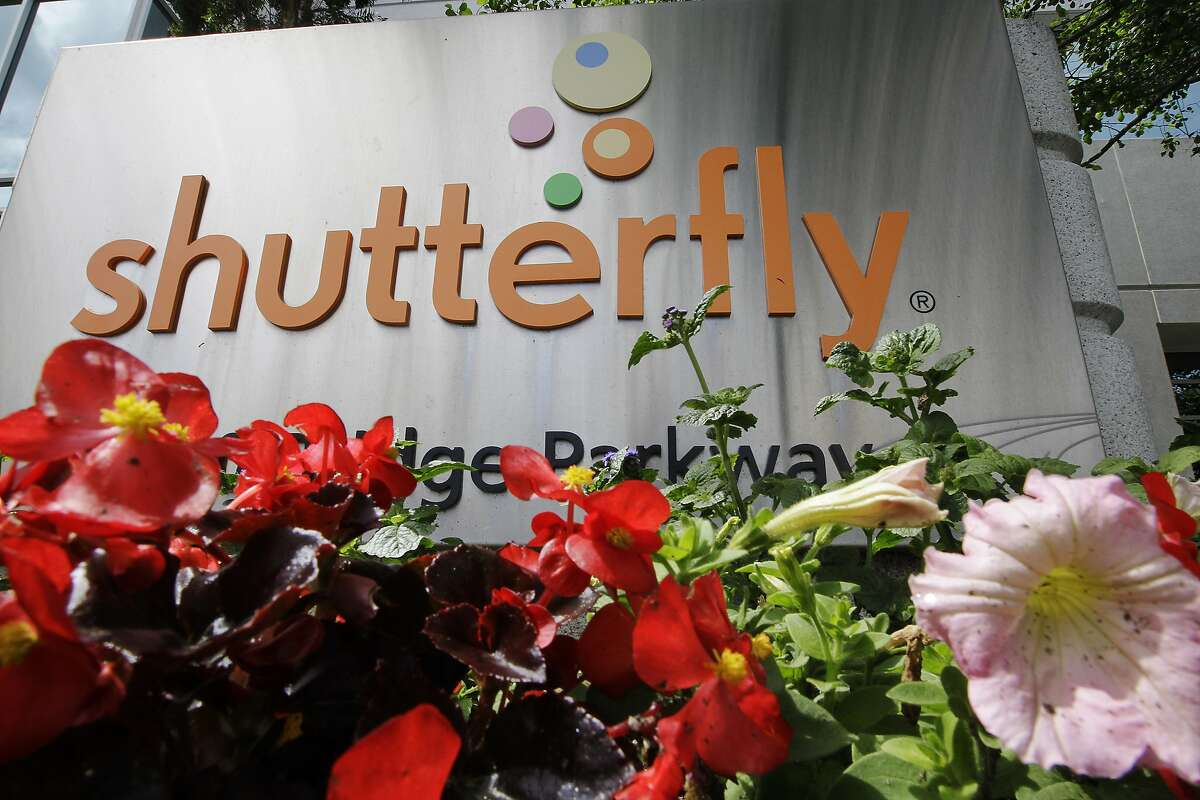 FILE - This April 26, 2012, file photo shows the Shutterfly headquarters in Redwood City, Calif. Private equity firm Apollo Global Management is buying online photo publishing company Shutterfly for $51 per share. Redwood City, California-based Shutterfly's stock closed at $50.25 on Monday, June 10, 2019. (AP Photo/Paul Sakuma, File)