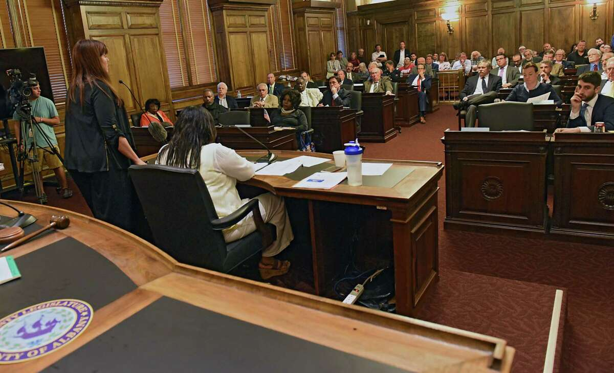 The Albany County Legislature meets at the Albany County Courthouse on Monday, June 10, 2019 in Albany, N.Y. (Lori Van Buren/Times Union)