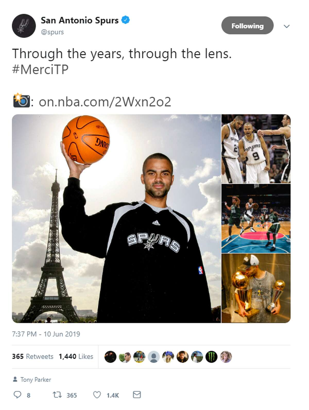 San Antonio Spurs @spurs Through the years, through the lens. #MerciTP