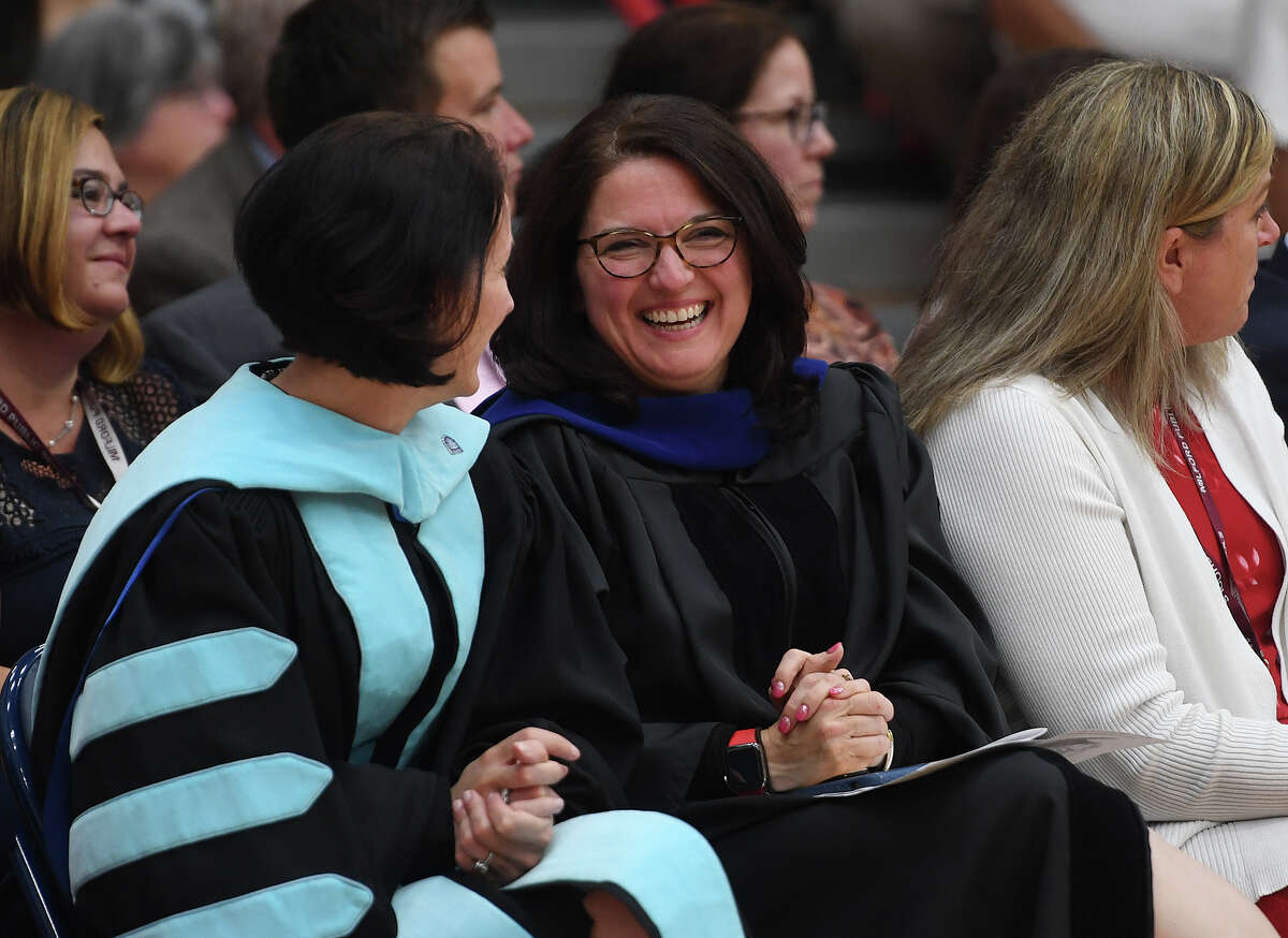 Milford Superintendent of Schools Anna Cutaia. The Foran High School Graduation in Milford, Conn. on Monday, June 10, 2019.
