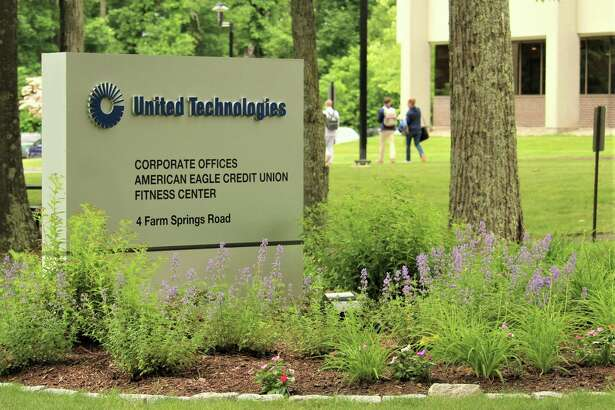 The United Technologies Corp. headquarters in Farmington. The company plans to move its headquarters to the Boston area after a merger with Waltham, Mass.-Raytheon Co. in 2020.