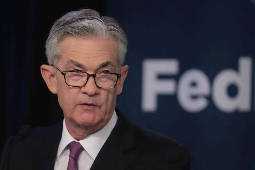 *** BESTPIX *** CHICAGO, ILLINOIS - JUNE 04: Jerome Powell, Chair, Board of Governors of the Federal Reserve speaks during a conference at the Federal Reserve Bank of Chicago on June 04, 2019 in Chicago, Illinois. The conference was held to discuss monetary policy strategy, tools and communication practices. (Photo by Scott Olson/Getty Images)