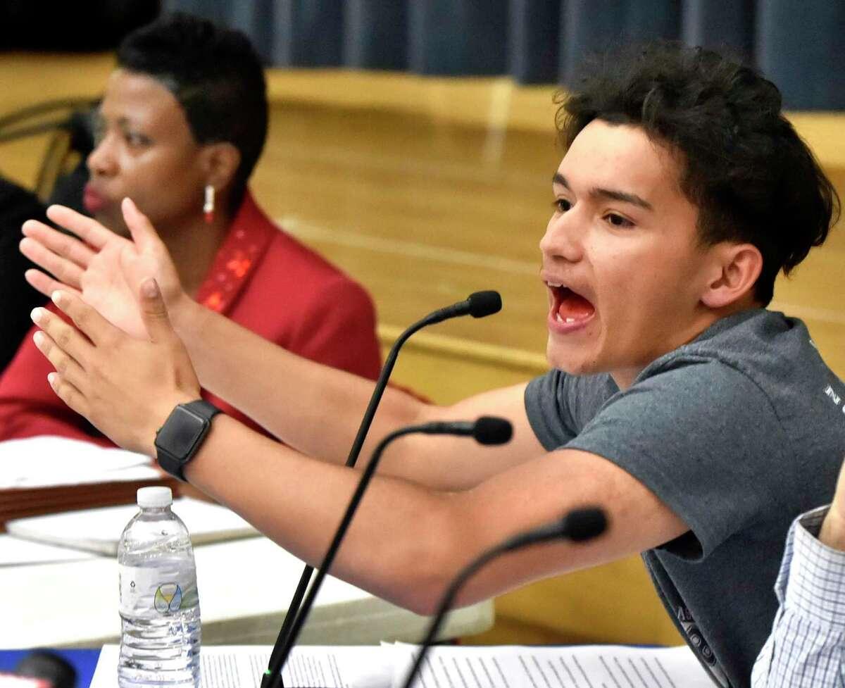 New Haven Board of Education student member Edgar