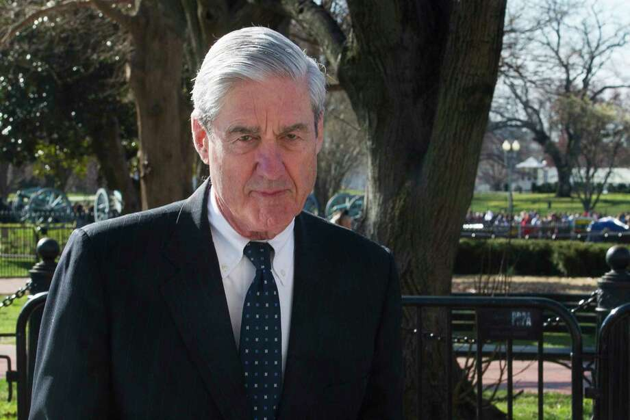 FILE - In this March 24, 2019 photo, Special Counsel Robert Mueller walks past the White House, after attending St. John's Episcopal Church for morning services, in Washington. Mueller will make his first public statement on the probe on Wednesday, May 29.(AP Photo/Cliff Owen, File) Photo: Cliff Owen / Copyright 2019 the Associated Press. All Rights Reserved.