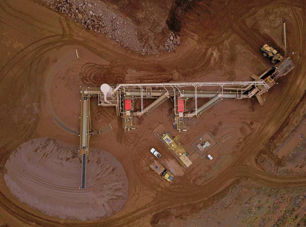 The crusher, where the stone is broken down before getting milled, is shown at the Mountain Pass Mine.