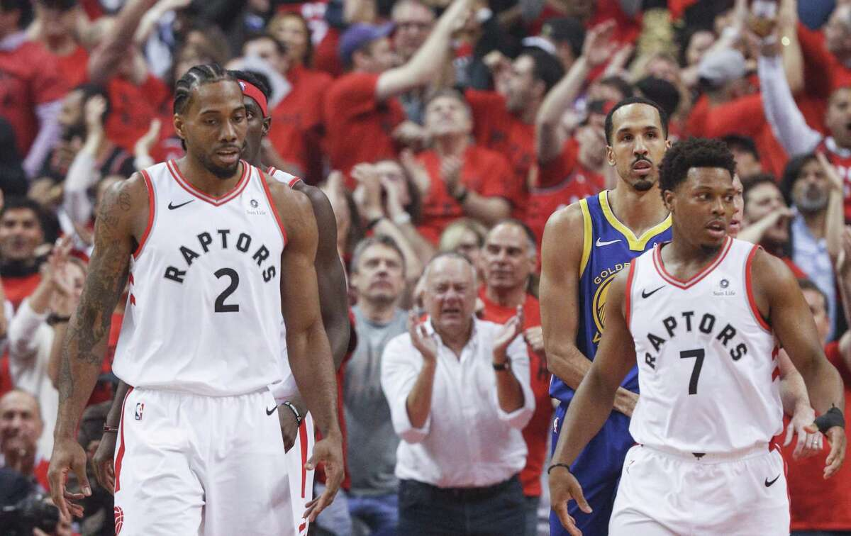 Toronto's Kawhi Leonard and Kyle Lowry combined to score 44 points in Monday's Game 5 of the NBA Finals, but neither could connect on a potential championship-clinching win in the game's final seconds.