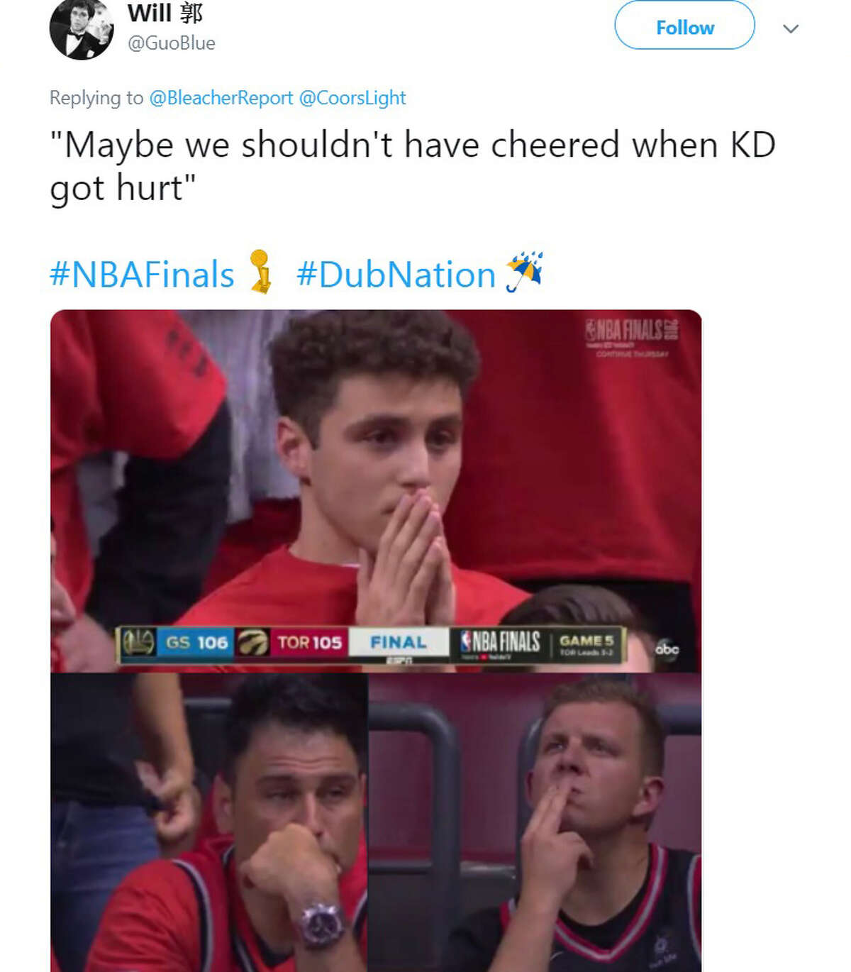 The best memes and Twitter reactions after the Warriors beat the Raptors in Game 5 of the NBA Finals on Monday night in Toronto.