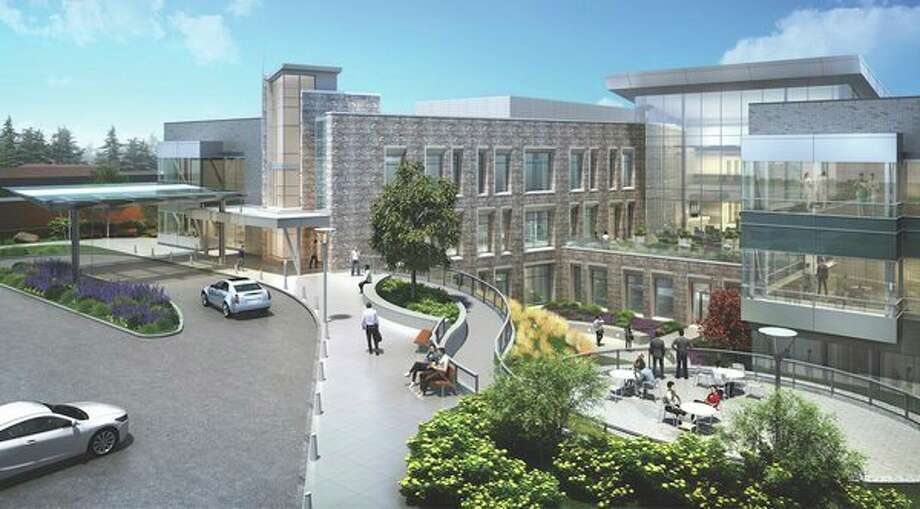 A rendering of the new Orchard Building on the campus of the MidMichigan Medical Center, which will officially open on June 24, 2019. (Photo provided/Millie Jezior)