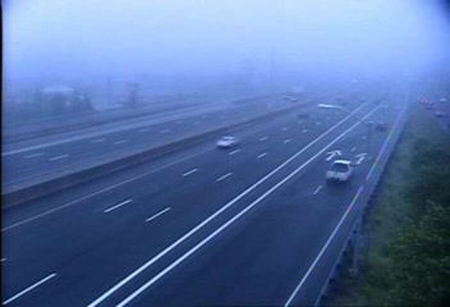 Just after 6 a.m. on Tuesday, June 11, 2019, there was thick fog on I-95 in New Haven. Photo: /