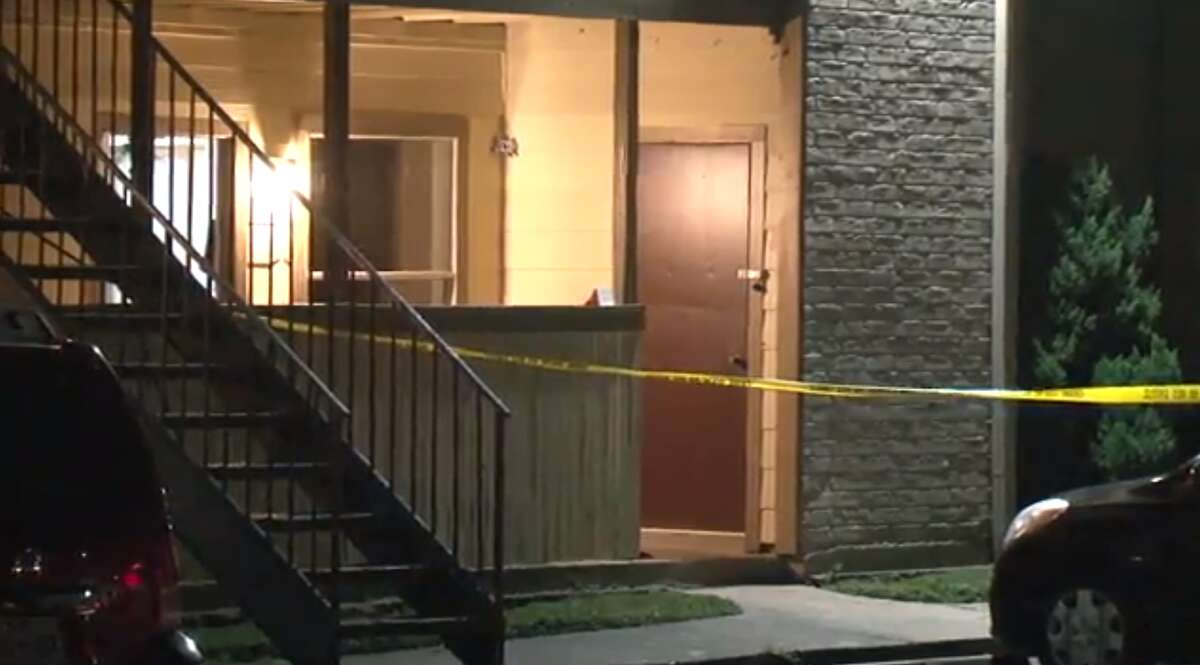 Harris County deputies respond to a home invasion incident Monday, June 10, at the Trails of Windfern Apartments in northwest Harris County. A woman was shot multiple times, but she is expected to survive, deputies said.