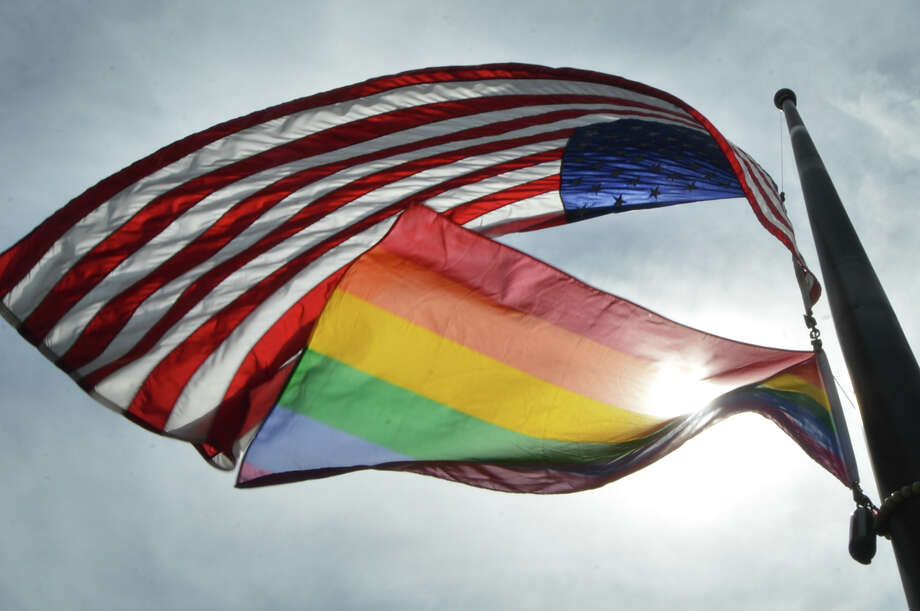 U.S. embassies are no longer allowed to fly the gay pride rainbow flag along with the Stars and Stripes. Photo: Alex Von Kleydorff, Hearst Connecticut Media