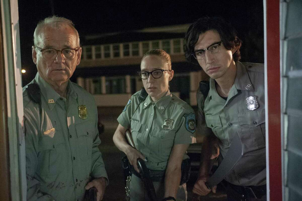 """Bill Murray as """"Officer Cliff Robertson"""", Chloë Sevigny as """"Officer Minerva Morrison"""" and Adam Driver as """"Officer Ronald Peterson"""" in writer/director Jim Jarmusch's THE DEAD DON'T DIE, a Focus Features release. (L to R) Bill Murray as """"Officer Cliff Robertson"""", ChloÃ« Sevigny as """"Officer Minerva Morrison"""" and Adam Driver as """"Officer Ronald Peterson"""" in writer/director Jim Jarmusch's THE DEAD DON'T DIE, a Focus Features release. Credit : Abbot Genser / Focus Features © 2019 Image Eleven Productions, Inc."""