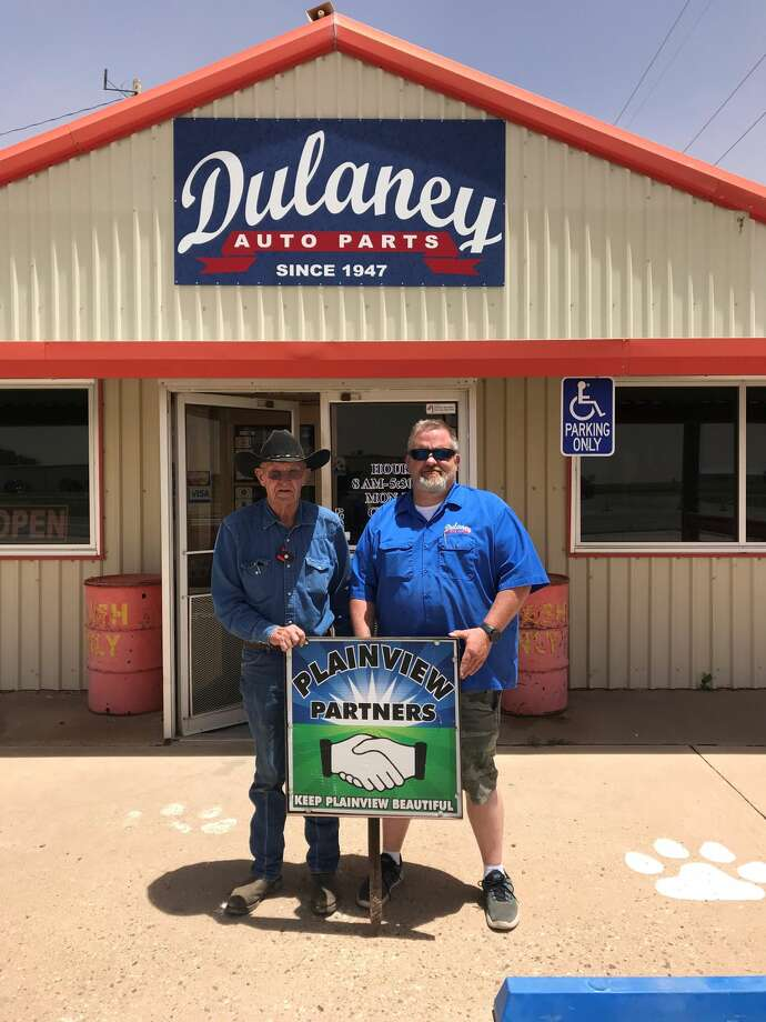Keep Plainview Beautiful Partners Award: Dulaney Auto Parts – (pictured L-R) Herman Lindeman and Cody Lindeman Photo: Annabeth Allison/Courtesy Photos
