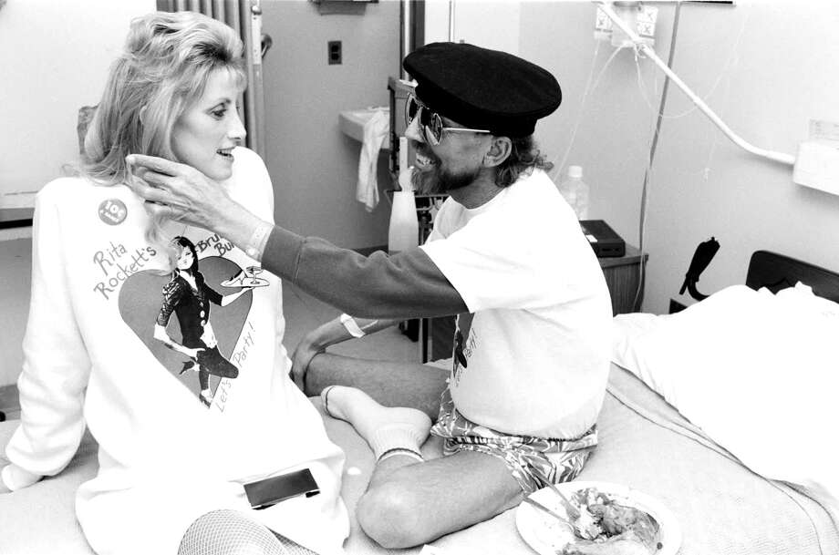 "Caregiver Rita Rockett visits with a patient on San Francisco General Hospital's ward 5B in the documentary ""5B."" Photo: Handout Courtesy Of Ken Kobré/RYOT Films / Handout"