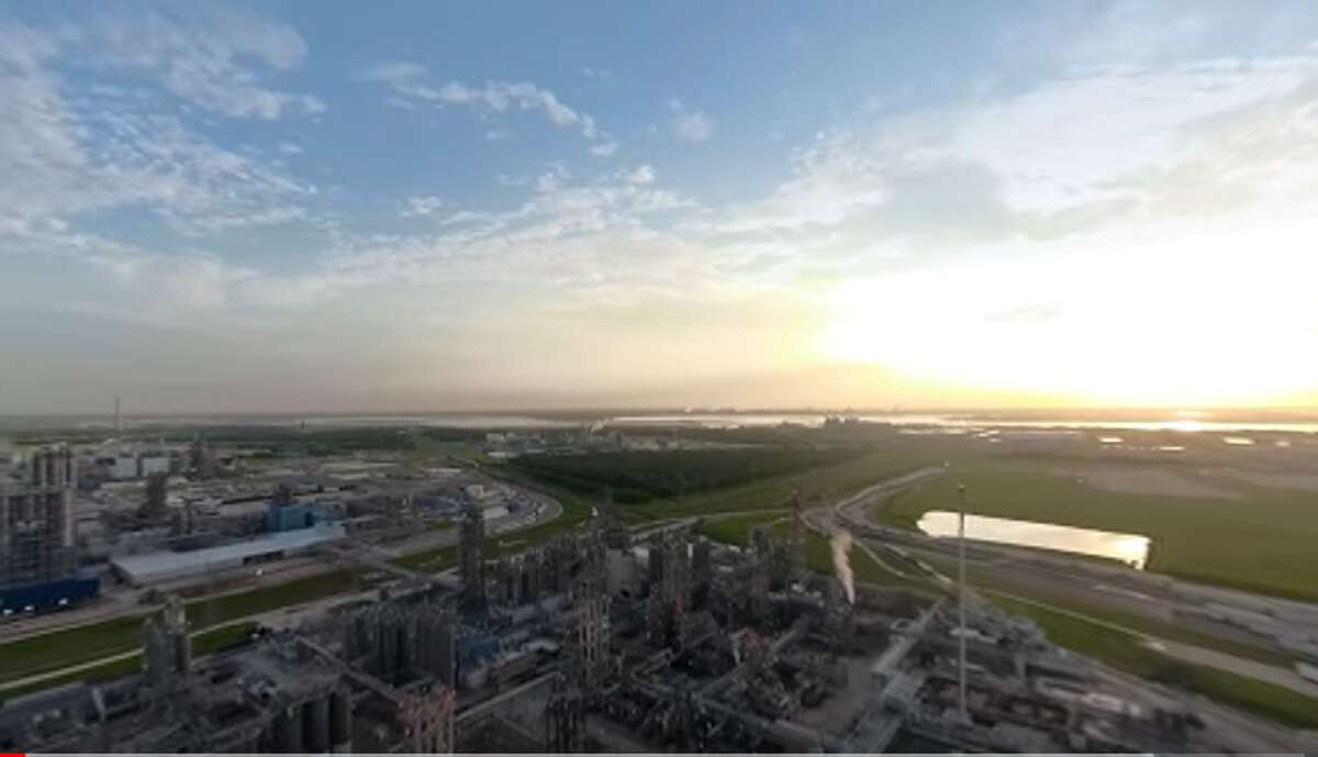 A frame from the virtual reality video tour of Ineos' La Porte plant, made in collaboration with the industry lobbying group AFPM. Ineos is considering an $803 million expansion of the site.