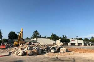 The former Kroger fueling station at Davis Street and Loop 336 has been demolished to make room for a new 6,000-square-foot Auto Zone.
