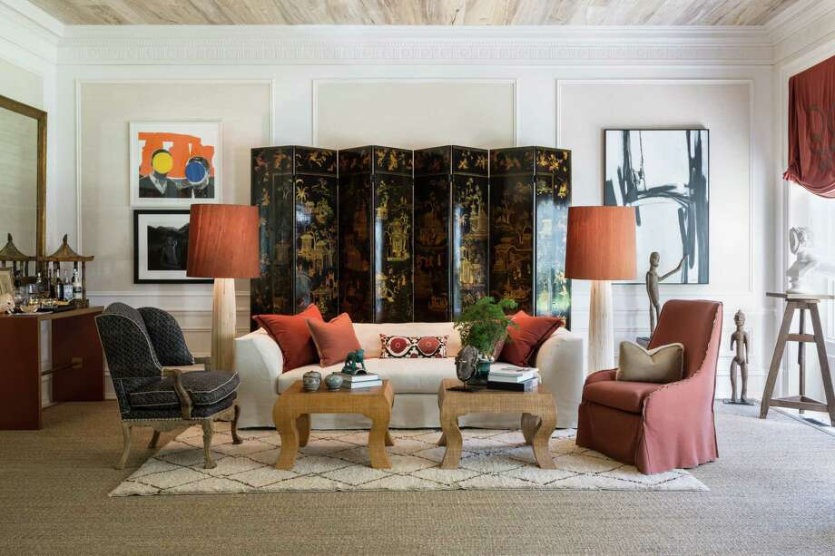 A room designed by Josh Hildreth using a decorative screen. Photo: Photo By Angie Seckinger / Handout