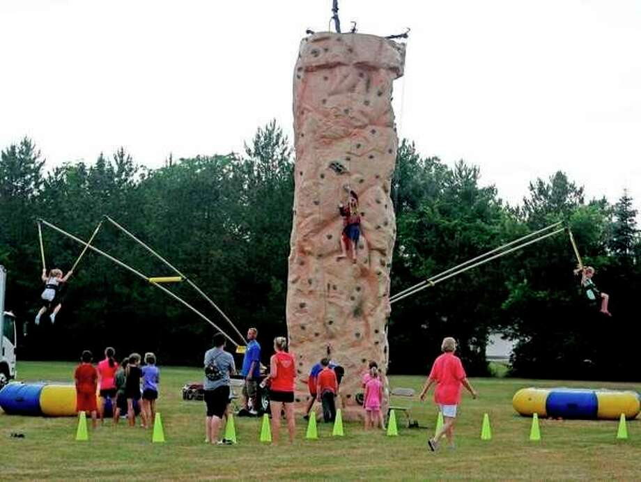 This is a rock climbing wall featured during last year's Ubly Homecoming. (Tribune File Photo)