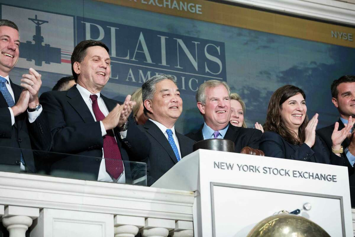 Executives with Houston-based Plains All American Pipeline LP celebrated the company's 20th anniversary by ringing the closing bell on the New York Stock Exchange on Thursday, November 29, 2018.