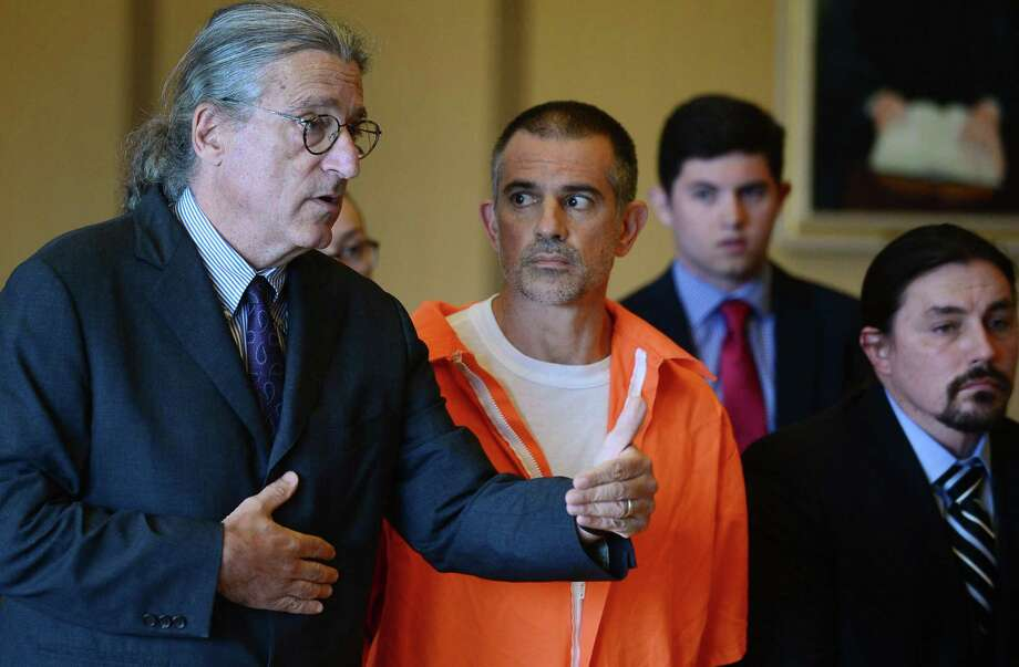 Fotis Dulos and his legal team including Norm Pattis, left, appeal bond in his appearance for tampering with evidence and hindering the investigation into the disappearance of his wife Jennifer Dulos at Stamford Superior Court Tuesday, June 11, 2019 in Stamford, Conn. Photo: Erik Trautmann / Hearst Connecticut Media / Norwalk Hour