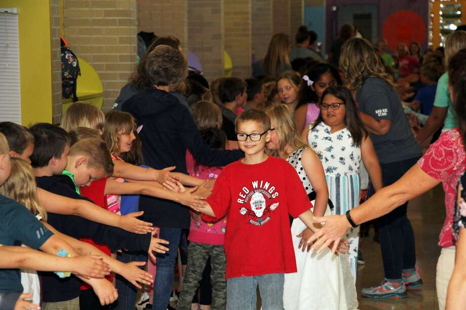 Students at Bad Axe Elementary celebrated their last day of the school year, Tuesday morning. Photo: Seth Stapleton/Huron Daily Tribune