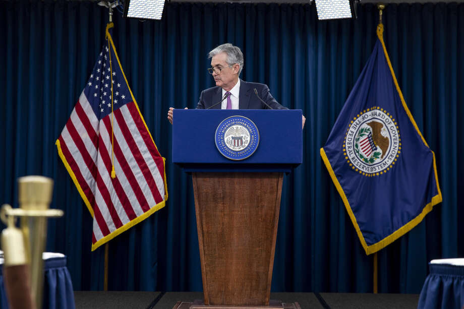 Jerome Powell, chairman of the U.S. Federal Reserve, speaks during a press conference following the Federal Open Market Committee meeting in Washington, D.C., on May 1, 2019. Photo: Bloomberg Photo By Anna Moneymaker / Bloomberg