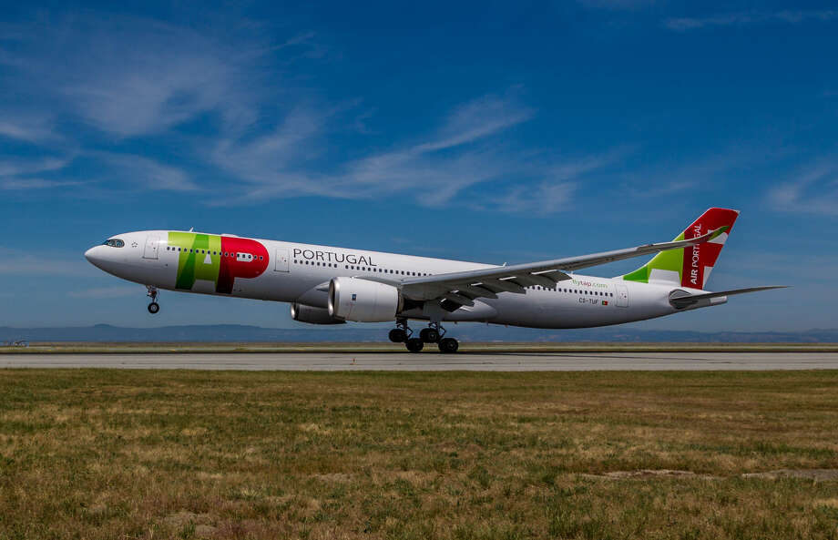 A brand new TAP Air Portugal Airbus A330neo lands at SFO on Monday, June 10 for an inaugural celebration. Click through the slideshow for pics of the party! Photo: Jeff Del Rio / SFO