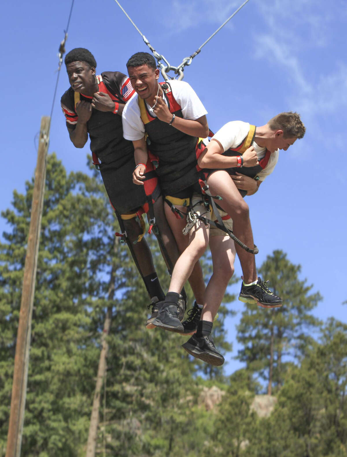 One of the activities was the giant swing at SGY 2019 Camp in Glorieta, NM. Photos courtesy of Stonegate Fellowship