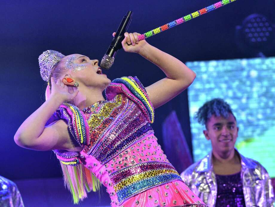 JoJo Siwa, above, celebrates her 16th birthday at a sold-out Nickelodeon JoJo Siwa D.R.E.A.M. The Tour concert on May 19 in Los Angeles, Calif. The tour is scheduled to stop at Bridgeport's Webster Bank Arena on Oct. 1, with tickets going on sale this week. Photo: Jerod Harris / Getty Images For Nickelodeon / 2019 Getty Images